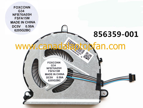 HP Pavilion 15-AU000 Series Laptop CPU Fan 856359-001