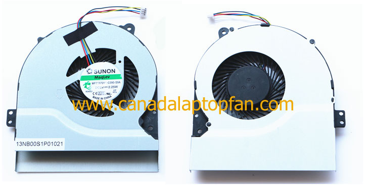 ASUS R510C R510CA R510E Series Laptop CPU Fan